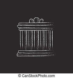 Acropolis of Athens Drawn in chalk icon - Acropolis of...
