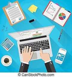 Businessman Workplace Desk