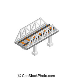 Rail bridge isometric 3d icon