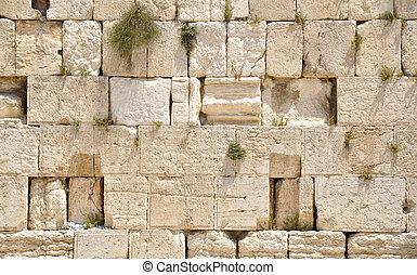 Western Wall - Western (Wailing) Wall. Jerusalem Old City