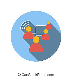 Business connect between people flat icon