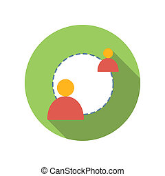 Exchange of information between two people icon