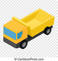 Truck isometric 3d icon on transparent background