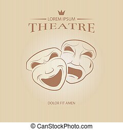 Comedy and tragedy theatrical masks. Face mask art, tragedy...