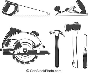 Vector elements for carpentry labels, logos, badges and...