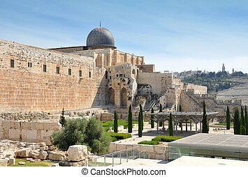 Al Aqsa Mosque VIII century. Jerusalem Old City