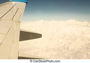 wing aircraft in the sky - a wing aircraft in the sky