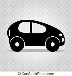 Abstract car on a light background black symbol