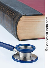 book and stethoscope, symbol photo for bungling doctors...