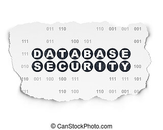 Safety concept: Database Security on Torn Paper background