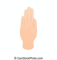 Stop gesture icon, isometric 3d style - Stop gesture icon in...