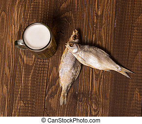 Two fishes and frothy beer - Two fishes is next to the...