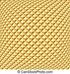 Golden textured background. Checked relief pattern.