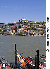 Vila Nova de Gaia view from Porto side, Portugal