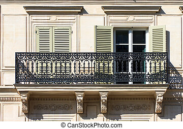 Paris balcony - Typical french balcony of an apartment...