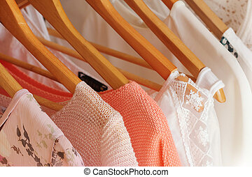 collection of women's clothes
