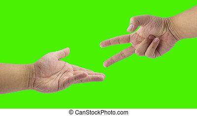 scissors win paper hand - hand play scissors win paper hand...