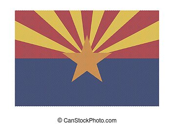 Arizona Flag White Dots - A retro looking Arizona flag...