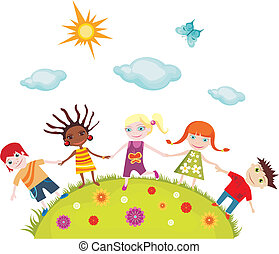 children - vector illustration of children