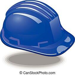 blue helmet architect vector eps 10