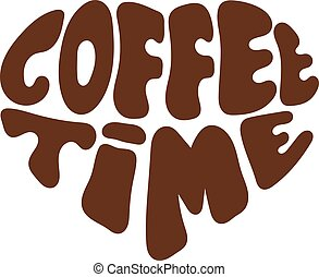 Logo COFFEE TIME in heart