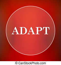Adapt icon Internet button on red background