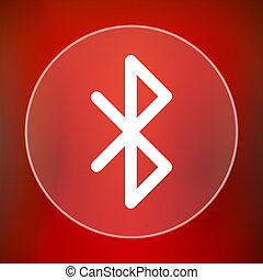 Bluetooth icon Internet button on red background