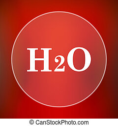 H2O icon Internet button on red background