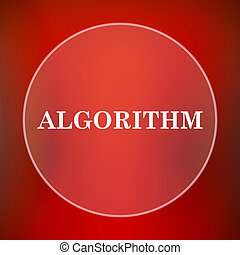 Algorithm icon Internet button on red background