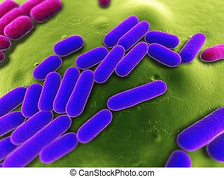 bacteria illustration - 3d rendered close up of some...