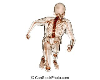 jogger - 3d rendered illustration of a running human...