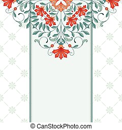 Invitation card with floral ornament. 10 eps.