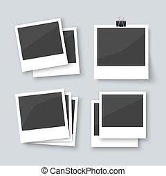 Set of old style photo frames