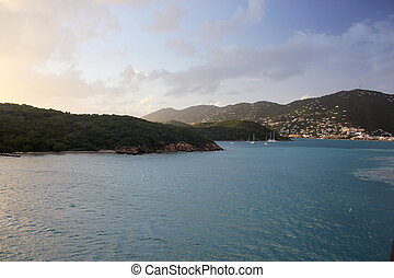 Charlotte Amalie Harbor - View of Charlotte Amalie Harbor,...