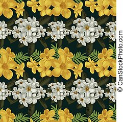 floral seamless pattern - Vector Illustration of floral...