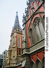 Catholic church in the Gothic style architecture