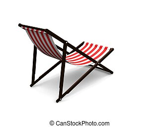 deck chair - 3d rendered illustration of an isolated deck...