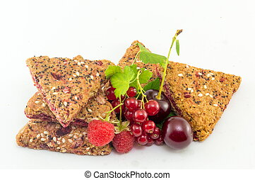 Integral biscuits with fresh fruit - Integral biscuits with...