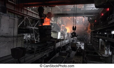 View of the working shop 12 - Stages of the steel plant for...