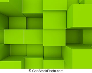 3d cubes - 3d rendered illustration of blue cubes