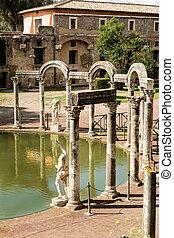 Ancient ruins of Villa Adriana, Tivoli, Italy - Ancient...