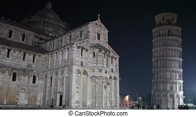 The Leaning Tower Of Pisa - Video clip of the Square of...