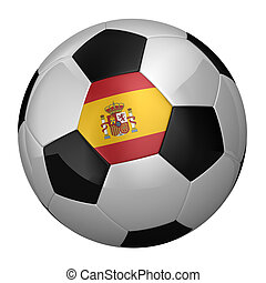 Spanish Soccer Ball isolated over white background