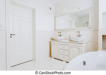 Bathroom in a hotel - Whte big bright bathroom in a hotel...