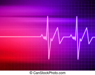 heartbeat - 3d rendered illustration of heartbeat on a...