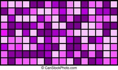 Flashing squares in purple and white colors