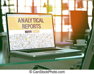 Analytical Reports Concept on Laptop Screen - Analytical...