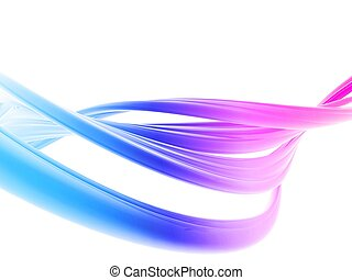 abstract lines - 3d rendered illustration of an abstract...