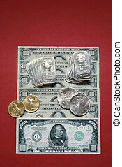 Paper and Precious Metal Currency - American currency in the...