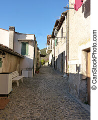 The ancient village of Scacciati in Palestrina - Rome -...